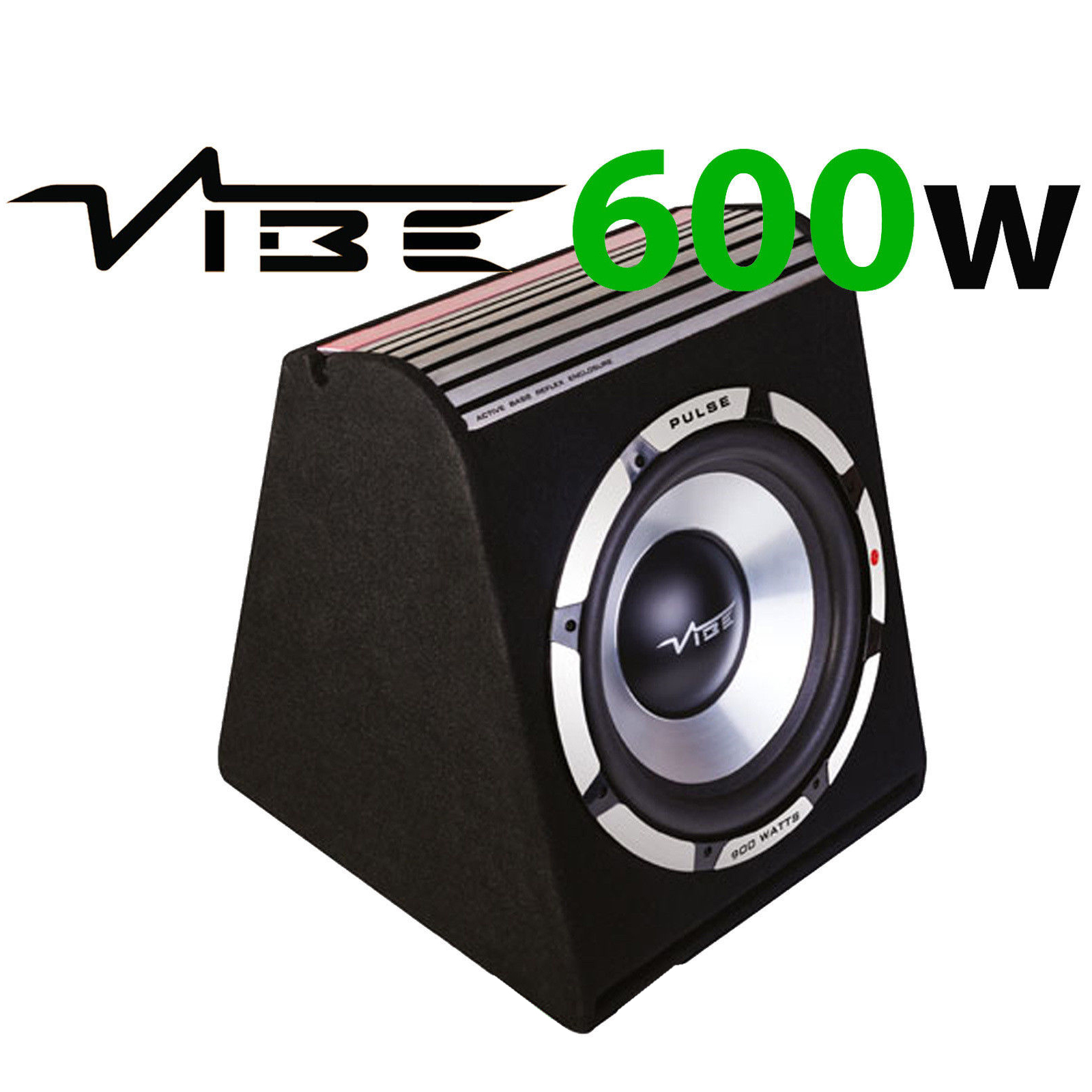 Vibe Pulse V8 V4 600 Watts 8 Inch 20cm Amplified Car Sub Bass Box Polk Audio Subwoofer Wiring Kits